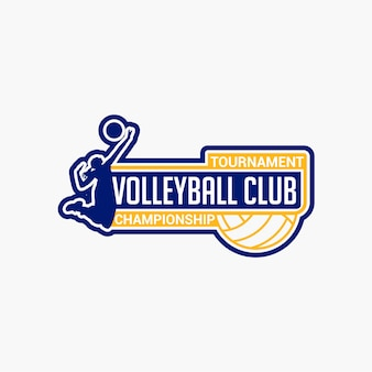 Volleyball club badge
