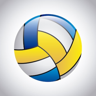 Volleyball design over gray background vector illustration