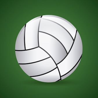 Volleyball design over green background vector illustration