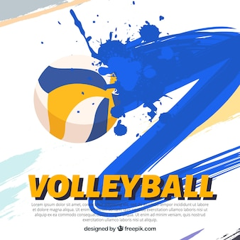 Volleyball editable wallpaper