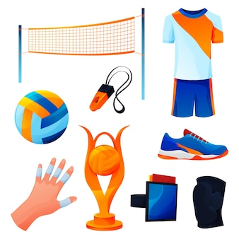 Volleyball equipment or sport game accessories set
