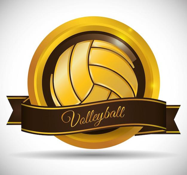 Volleyball icon design