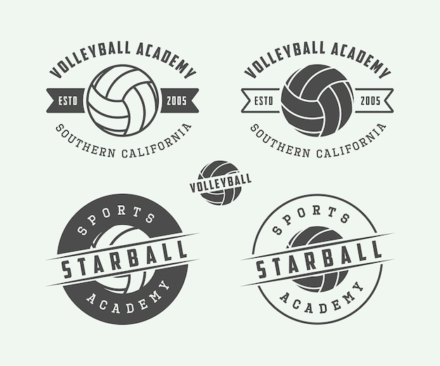 Volleyball labels