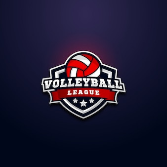 Volleyball league logo badge
