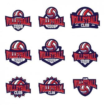 Volleyball logo templates design