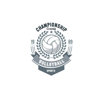 Volleyball logo vector. set badges logos volleyball teams and tournaments, championships volleyball.