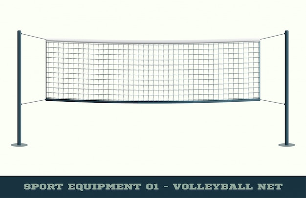 Volleyball net for sport game, activity leisure