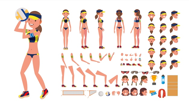 Volleyball player character.