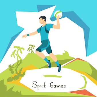 Volleyball player game match sport competition