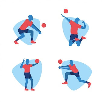 Volleyball player sports design