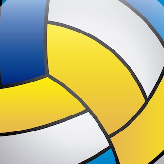 Volleyball skin over ball  background vector illustration