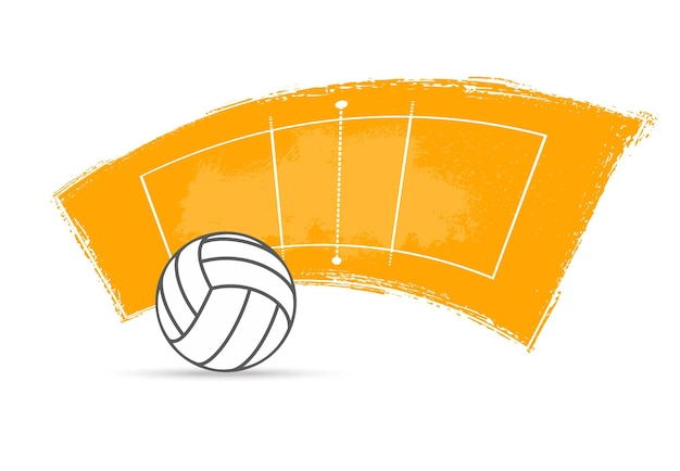 Volleyball sport ball and court