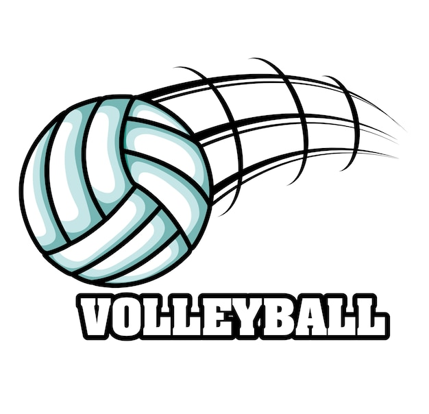 Volleyball sport emblem icon