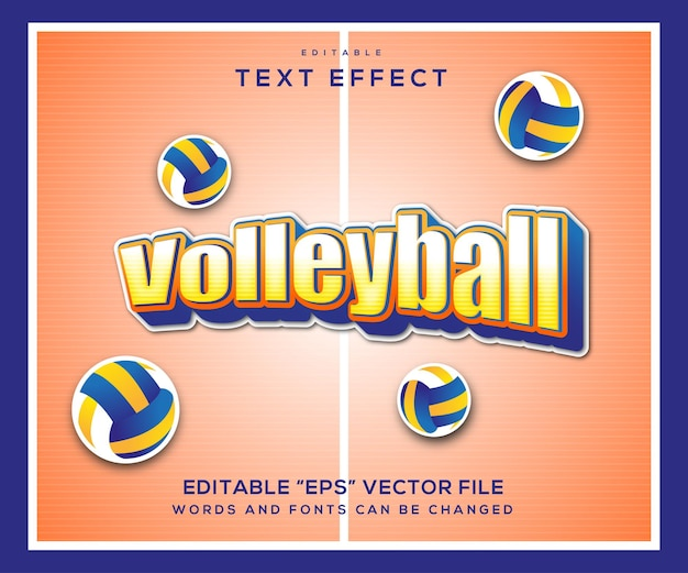 Volleyball style text effect