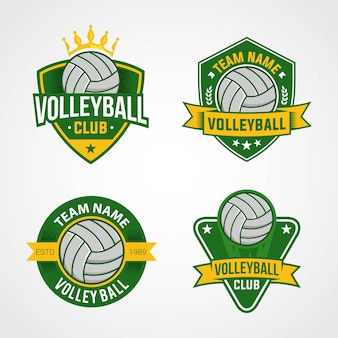 Volleyball team logos
