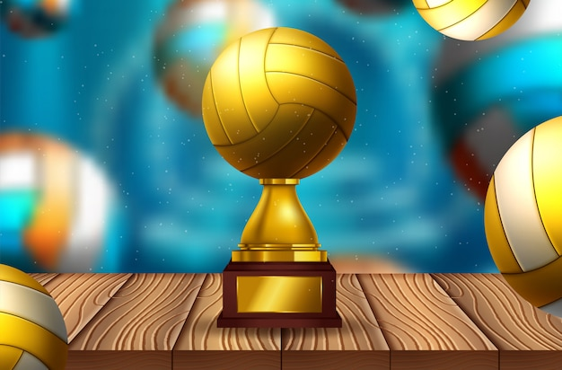 Volleyball text on an abstract background
