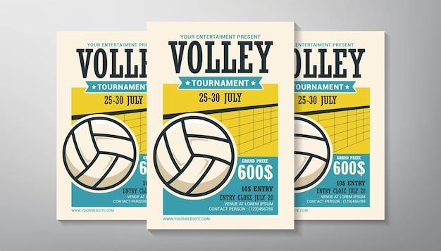 Volleyball tournament flyer template