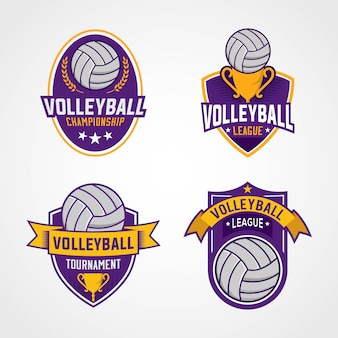 Volleyball tournament logos