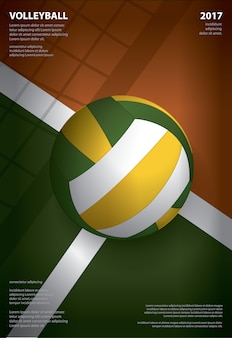 Volleyball tournament poster  template design