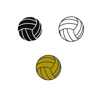 ボリーボールビーチやチームワークのロゴイラスト