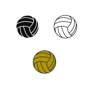 Volly ball beach or team work logo illustration