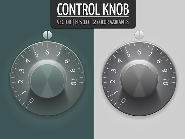ボリュームコントロールノブ、ベクトル図。あなたのデザインのui要素。 eps10