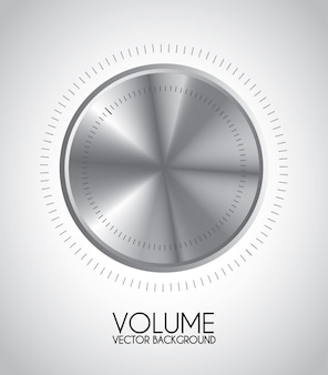 Volume icon over gray background vector illustration