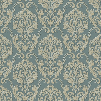 Volumetric damask seamless pattern background