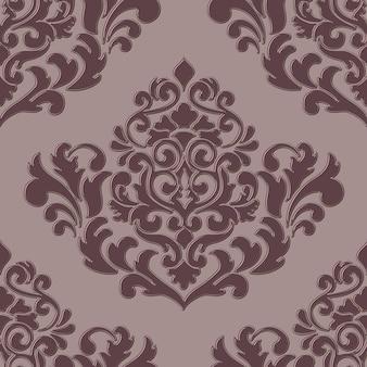 Volumetric damask seamless pattern