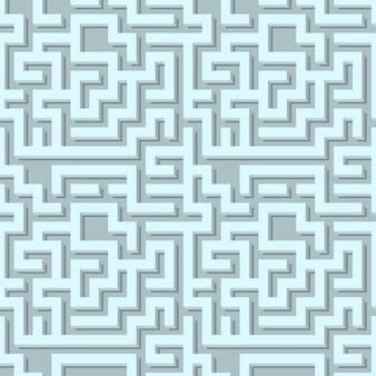 Volumetric maze pattern