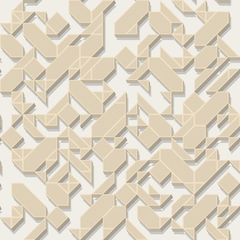 Volumetric pattern with shapes