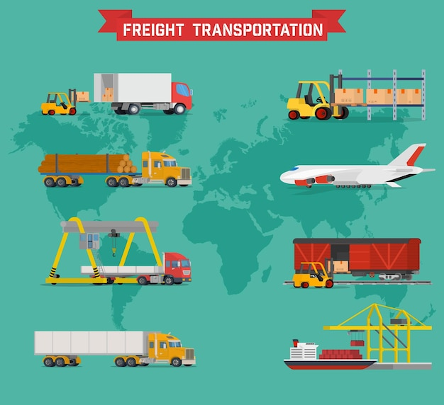 전세계 배송에 대한 체적 세트
