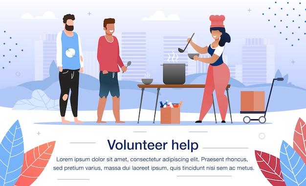 Volunteer help for homeless people