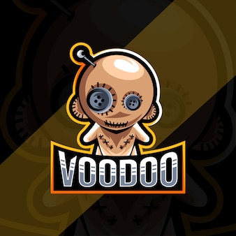 Voodoo mascot logo esport template