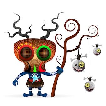 Voodoo shaman illustration