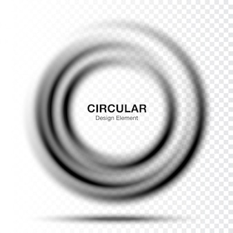 Vortex gradient round banner. text presentation layout. abstract gray swirl circle frame isolated