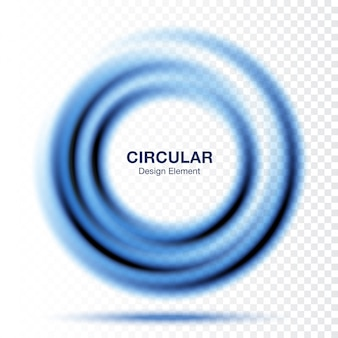 Vortex gradient round, text presentation layout. abstract blue swirl circle frame isolated