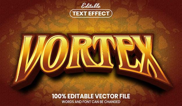 Vortex text, font style editable text effect