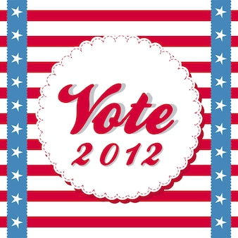 Vote 2012 background with stripes vector illustration