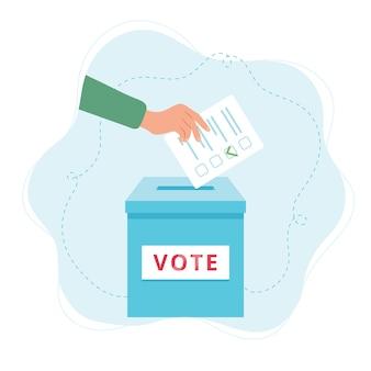 Vote ballot box illustration