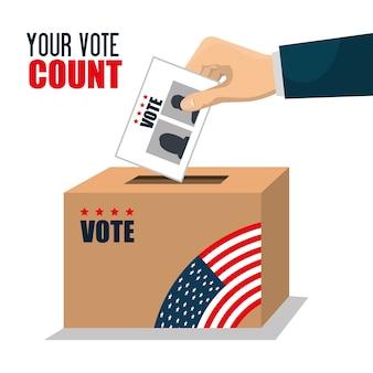 Vote ballot voting box