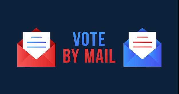 Vote by mail . stay safe concept the 2020 united states presidential election. template for background, banner, card, poster with text inscription.