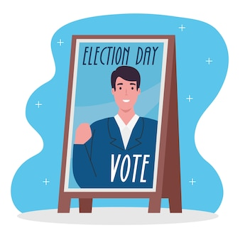 Vote elections day president banner design, government