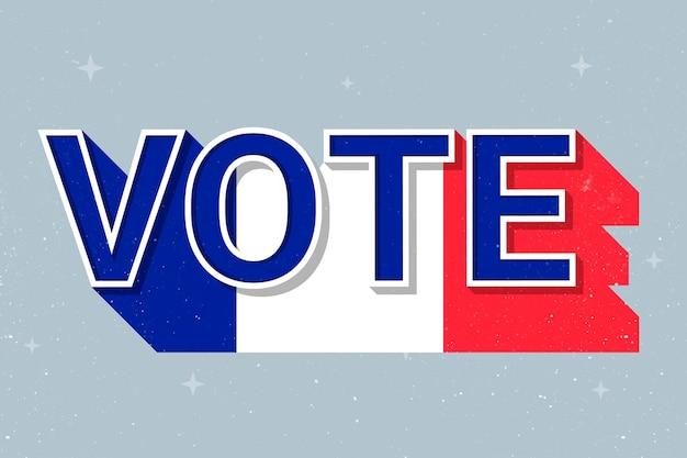 Vote word france flag vector election