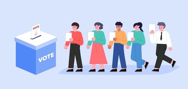 투표 및 선거 개념