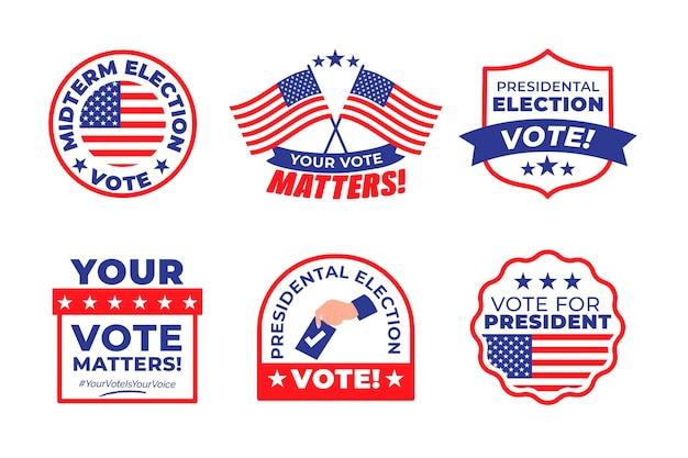 Коллекция значков для голосования