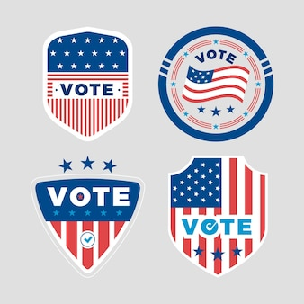 Voting badge collection