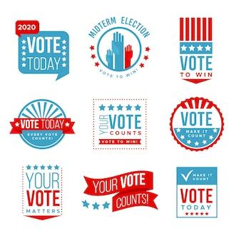 投票バッジとステッカーコレクション