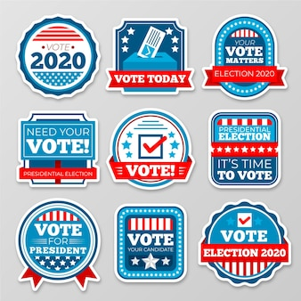 Voting badges and stickers