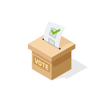 Voting box  illustration
